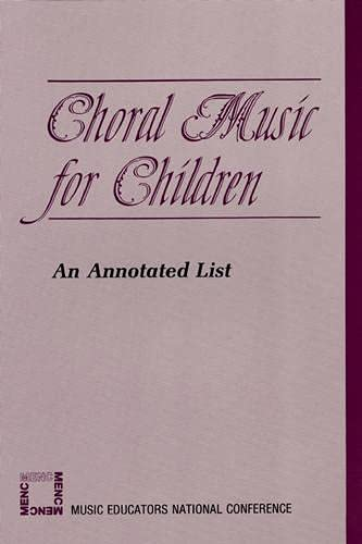 9780940796805: Choral Music for Children