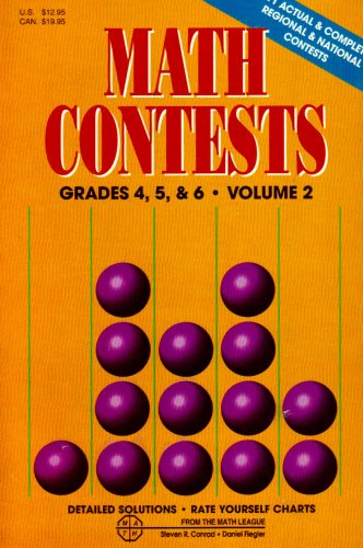 9780940805033: Math Contests, Vol. 2, Grades 4, 5, and 6
