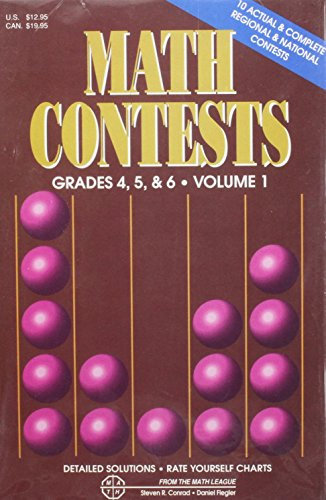 9780940805064: Math Contests-Grades 4, 5 & 6: School Years: 1979-80 through 1985-86 (Volume 1)