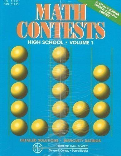 9780940805088: Math Contests: High School, Volume 1: School years 1977-78 & -1981-82