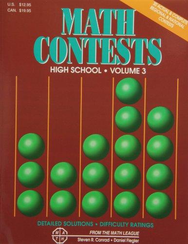 9780940805118: Math Contests High School, Volume 3: School Years 1991-92 Through 1995-96