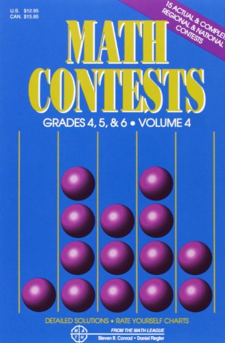 9780940805125: Math Contests: Grades 4, 5, & 6, Volume 4