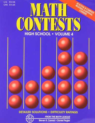 9780940805149: Math Contests: High School, Vol. 4- School Years: 1996-97 through 2000-2001