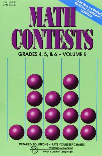 9780940805156: Math Contests, Grades 4, 5 & 6, Vol. 5