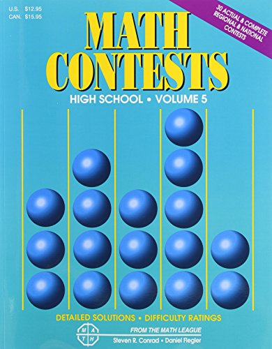 9780940805170: Math Contests: High School, Vol. 5 - School Years 2001-2002 through 2005-2006