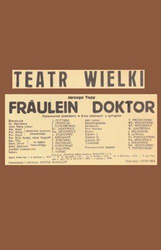 9780940962644: Fräulein Doktor