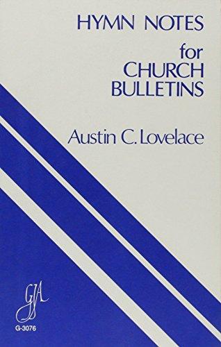 9780941050098: Hymn Notes for Church Bulletins/G3076