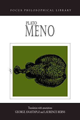 9780941051712: Plato : Meno (Focus Philosophical Library)