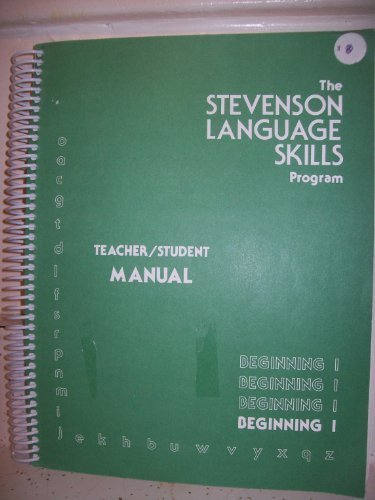 Stevenson language skills program : beginning 1: Nancy Stevenson