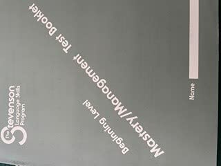 9780941112369: The Stevenson Language Skills Program Beginning Level Mastery/Management Test Booklet