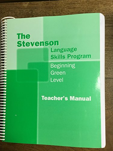 9780941112697: The Stevenson Language Skills Program - Beginning Green Level - Teacher's Manual