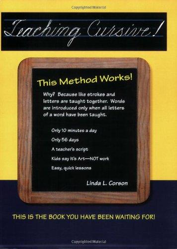 9780941159302: Teaching Cursive! This Method Works
