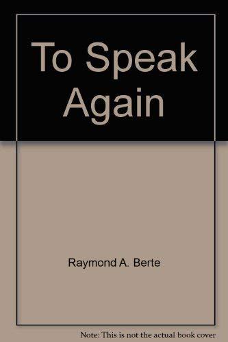 9780941219501: To Speak Again