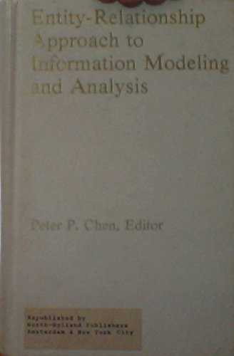 Entity Relationship Approach to Information Modeling and: Peter P. Chen