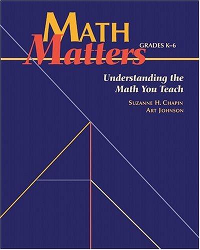 9780941355261: Math Matters: Understanding the Math You Teach, Grades K-6