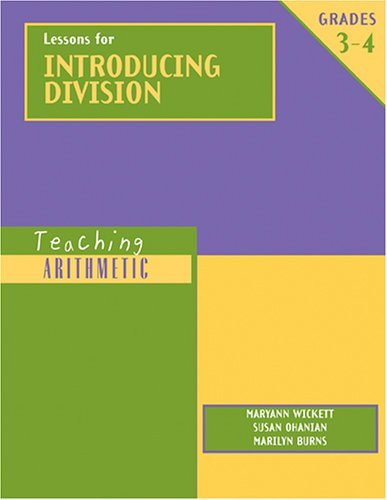 9780941355421: Lessons for Introducing Division, Grades 3-4 (Teaching Arithmetic)