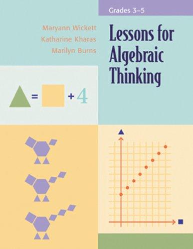 9780941355483: Lessons for Algebraic Thinking: Grades 3-5
