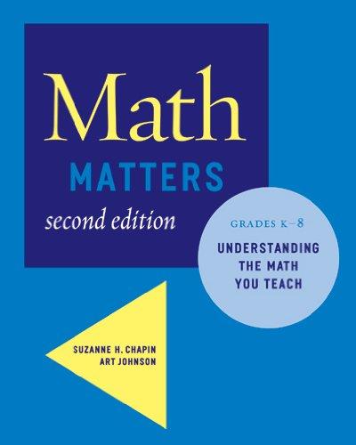 9780941355711: Math Matters: Understanding the Math You Teach, Grades K-8 (2nd Edition)