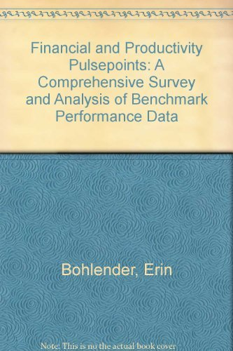 9780941451680: Financial and Productivity Pulsepoints: A Comprehensive Survey and Analysis of Benchmark Performance Data