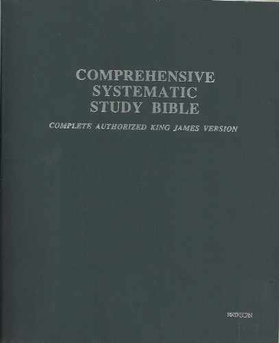 Comprehensive Systematic Study Bible in Kwikscan: Complete
