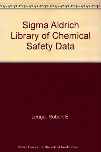 9780941633161: Sigma Aldrich Library of Chemical Safety Data