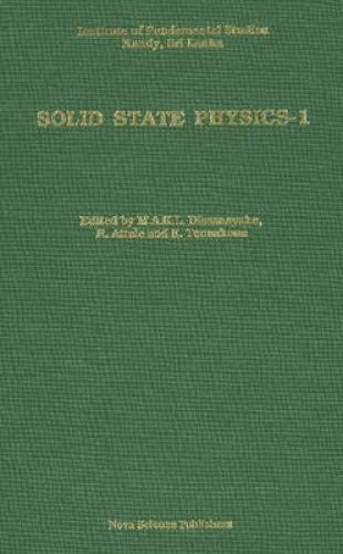 Solid State Physics 1. Institute of Fundamental: Dissanayake, M.A.K.L., et