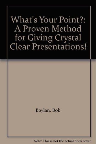 9780941755009: What's Your Point?: A Proven Method for Giving Crystal Clear Presentations!