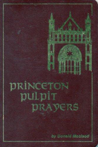 Princeton pulpit prayers: Donald MacLeod