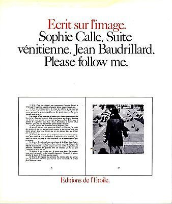 Suite Venitienne/Please Follow Me (0941920097) by Sophie Calle; Jean Baudrillard