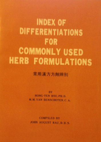 Index of differentiations for commonly used herb formulations