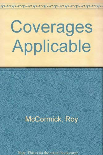 9780942326284: Coverages Applicable