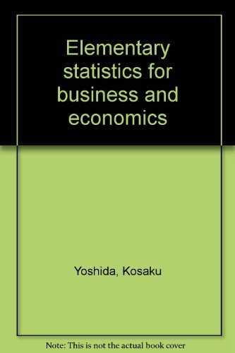 9780942441079: Elementary statistics for business and economics