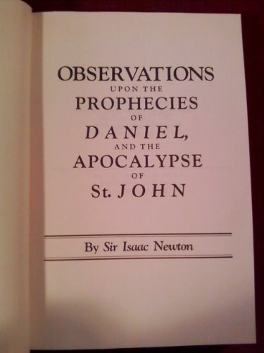 9780942487022: Observations upon the Prophecies of Daniel, and the Apocalypse of St. John