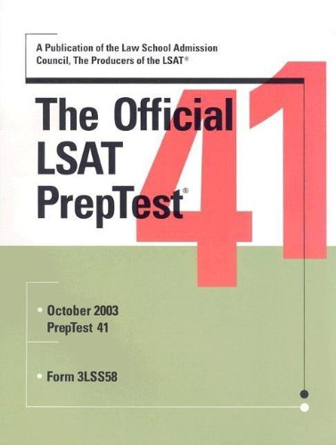 9780942639827: The Official LSAT PrepTest 41 (Official LSAT PrepTest)