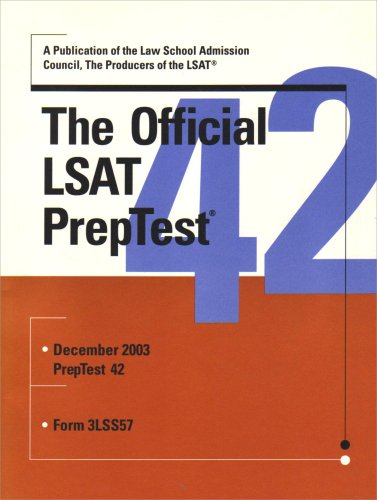9780942639834: The Official LSAT PrepTest 42 (Official LSAT PrepTest)