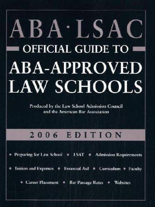 ABA LSAC Official Guide to Aba-Approved Law Schools 2005 (Aba Lsac Official Guide to Aba Approved ...