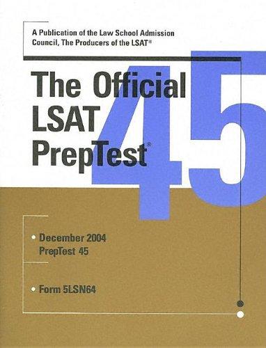 9780942639971: The Official LSAT PrepTest 45