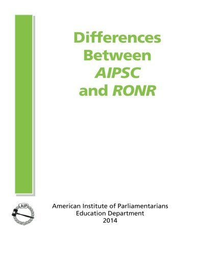9780942736410: Differences Between AIPSC and RONR