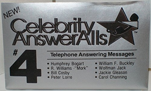 9780942771039: CELEBRITY ANSWERALLS #4 : ANSWERING MACHINE MESSAGES (NOT ON CD!) (AUDIOTAPE CASSETTE) (CELEBRITY ANSWERALLS)