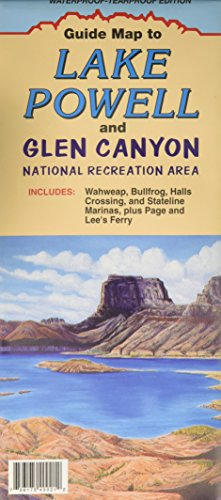 9780942927252: Guide Map to Lake Powell and Glen Canyon : Waterproof-Tearproof edition