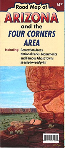 9780942927801: Road Map of Arizona and the Four Corners Area