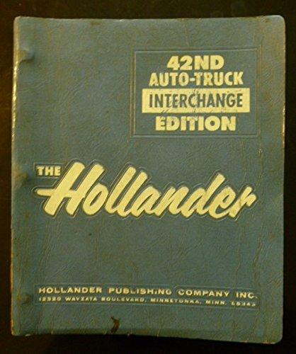 Auto Parts Interchange >> 9780943032306 Hollander Auto Truck Parts Interchange Manual