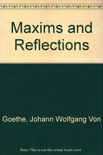 9780943045092: Maxims and Reflections