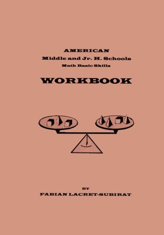 9780943144351: American Middle and Junior High Schools Math Basic Skills Workbook