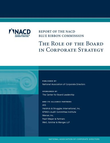 9780943176123: The Role of the Board in Corporate Strategy