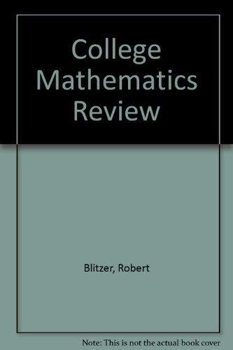 9780943202105: College Mathematics Review