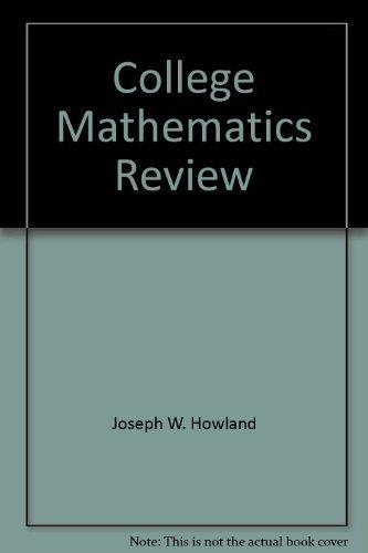 9780943202259: College Mathematics Review