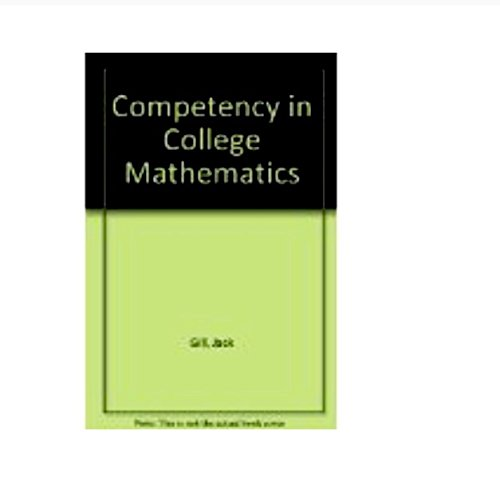 9780943202396: Competency in College Mathematics: 5th Edition
