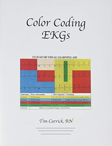 9780943202457: Color Coding EKGs: 12-Lead EKGs and Myocardial Infarctions Made Simple