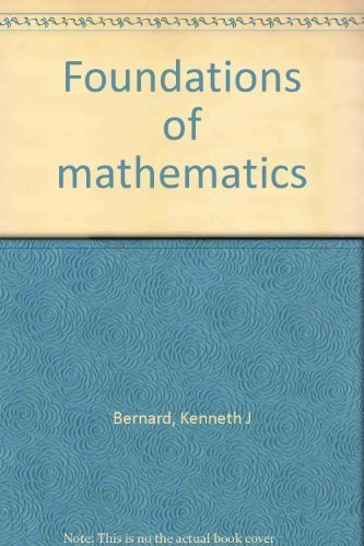 9780943202600: Foundations of mathematics